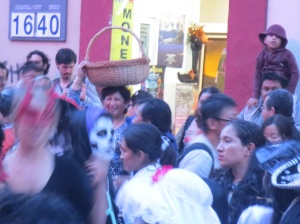 Gearing up for Dia de Muerto in the streets of Oaxaca.