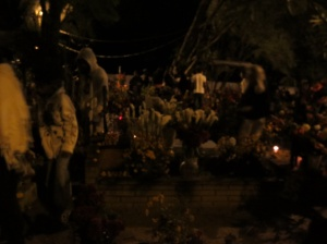 Trayvon Martin was at the cemetery (do you see him?) So was Batman, but he´s trickier to get a picture of.