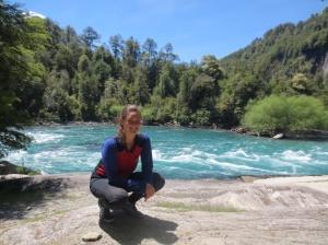 "At takeout on a ""bridge to bridge"" run on the Futaleufú River via cataraft, courtesy of Earth River."