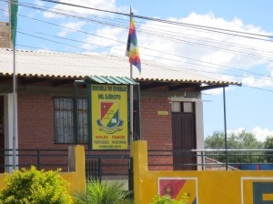A language school on the streets of Cochabamba offers courses in English, Quechua, Aymara and Spanish. It flies the Andean flag.