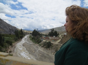 Choqueyapu Riverkeeper Danitza Defilipis surveys the river she stewards.