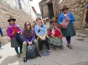 Llama ladies in Cuzco.